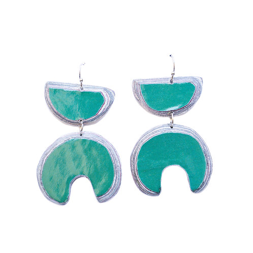Lindiwe Earrings Green