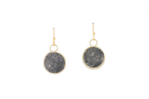 Pulp Circle Earrings Charcoal