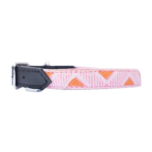 Pink & Orange Dog Collar