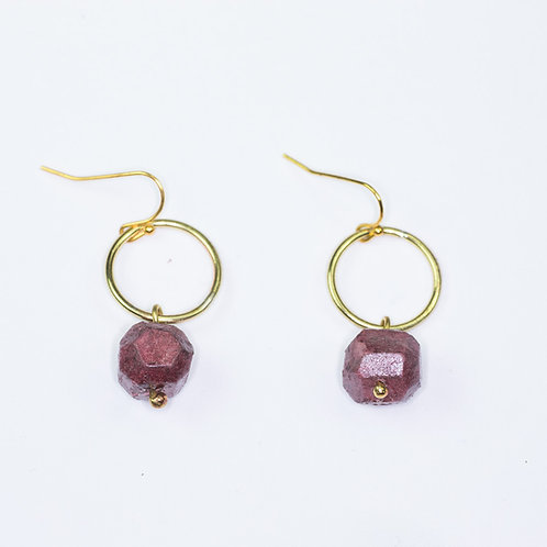 Nugget Circle Earrings