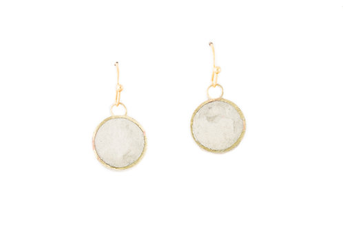 Pulp Circle Earrings Stone