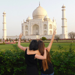 Saluting the Taj Mahal