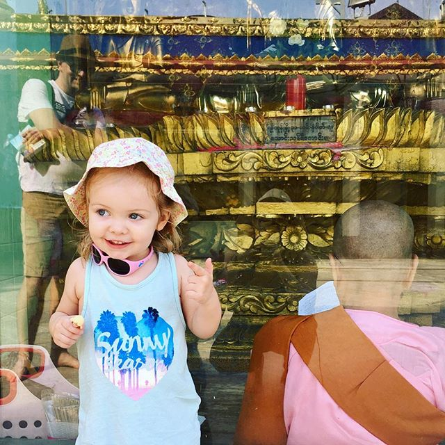 My beautiful girl smiling at her wonderful dad at #sulepagoda #elliewren #kidtripper