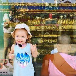 My beautiful girl smiling at her wonderful dad at #sulepagoda #elliewren #kidtripper