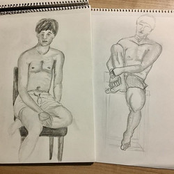 My top two drawings of the night