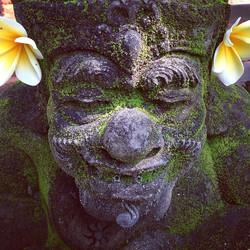 Happy, mossy stone guard