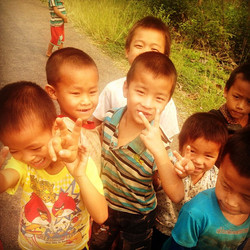 A #gang of #street_toughs we meet #onroute to the KuangSi water fall