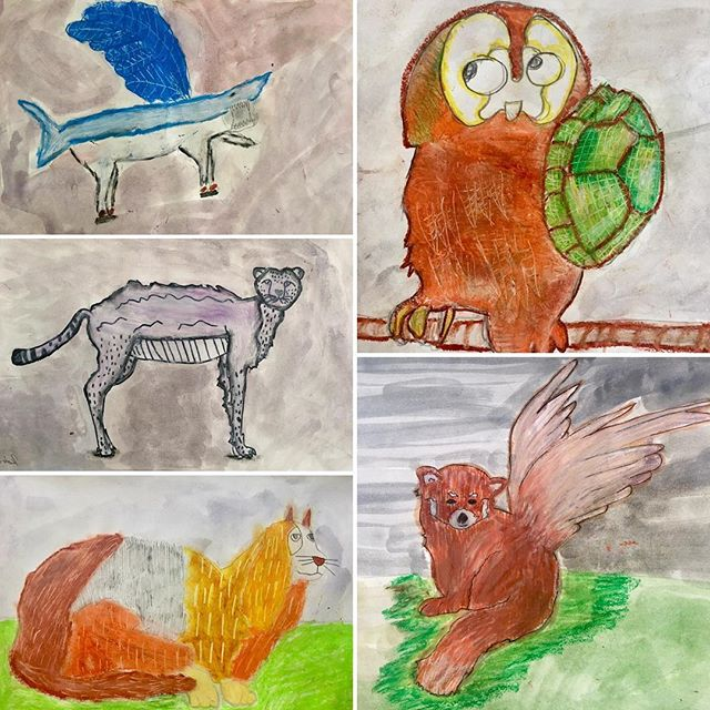 Hybrid Animals! #grade3art #msjensartroom #yearendexhibition