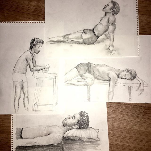 My first figure drawing session of 2018 was fabulous! It felt sooooo good to get back to figure draw