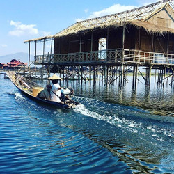 A Scene on Inle Lake