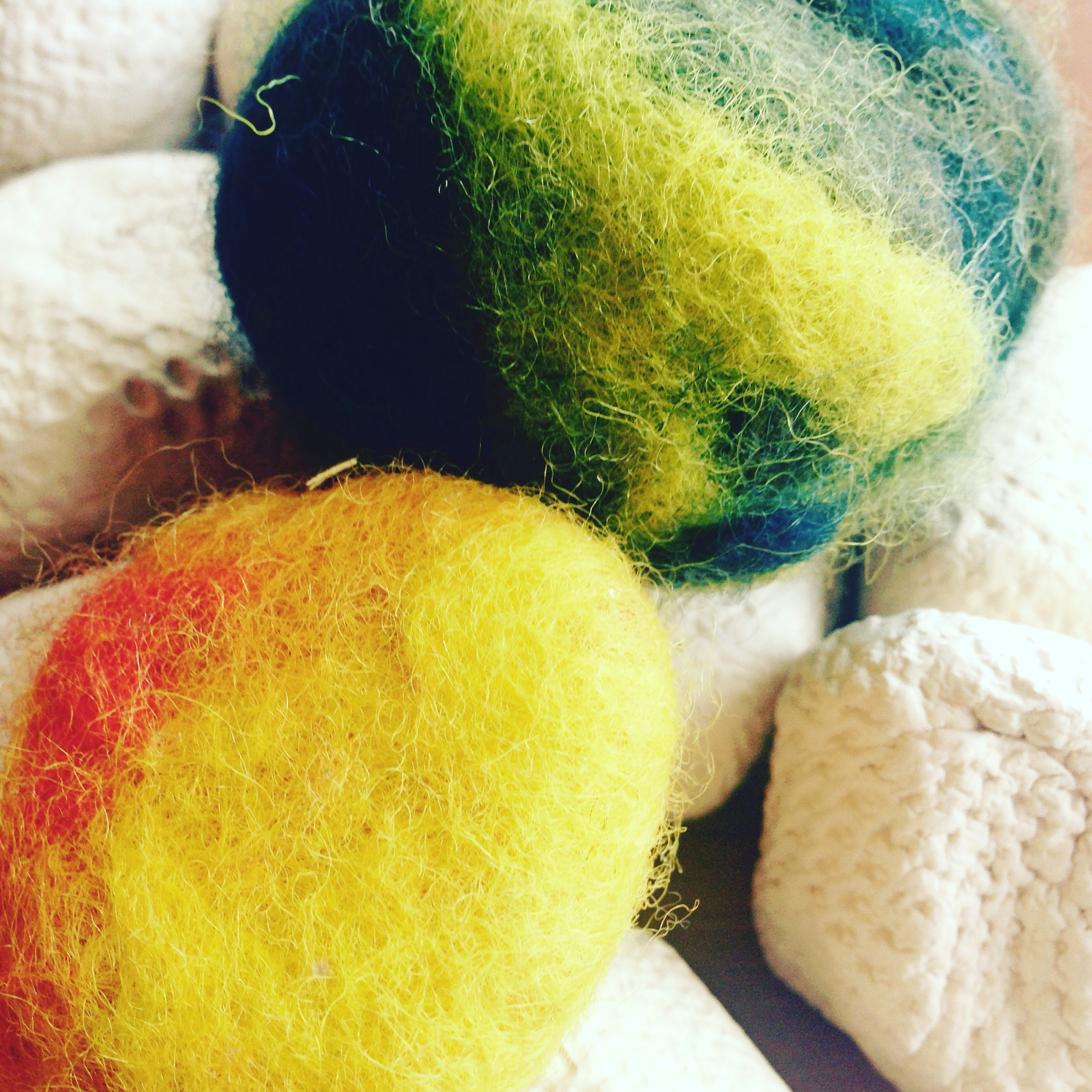 Clay Rocks: Felted