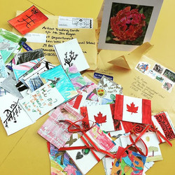 When it rains it pours!!! 2 envelopes of Artist Trading Cards arrived today! Thank you Barb and Erin