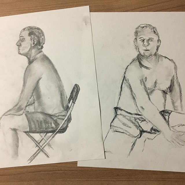 My top two drawings from the night #ISZAF #shenzhenart