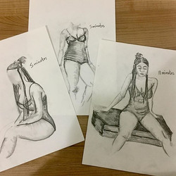 My top three drawings from tonight's figure drawing session