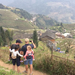 Dads and daughters and mountains and rice terraces