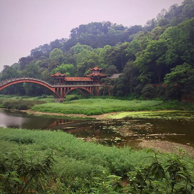 After visiting the Le Shan Giant Buddha we walked along this beautiful river valley