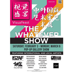 The Whatever Show Exhibition Poster
