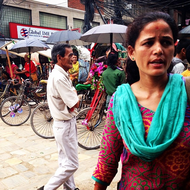 Bright and busy, what a city! #nepal #kathmandu