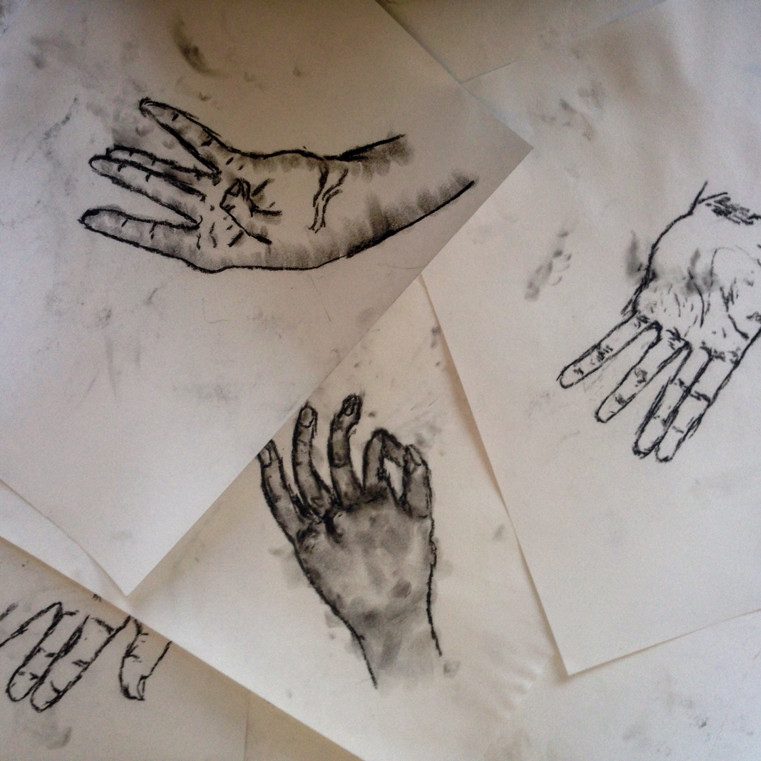 Contour Drawing: hand Studies