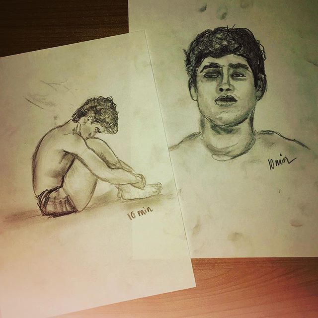 My top two drawings tonight #iszaf #figuredrawing