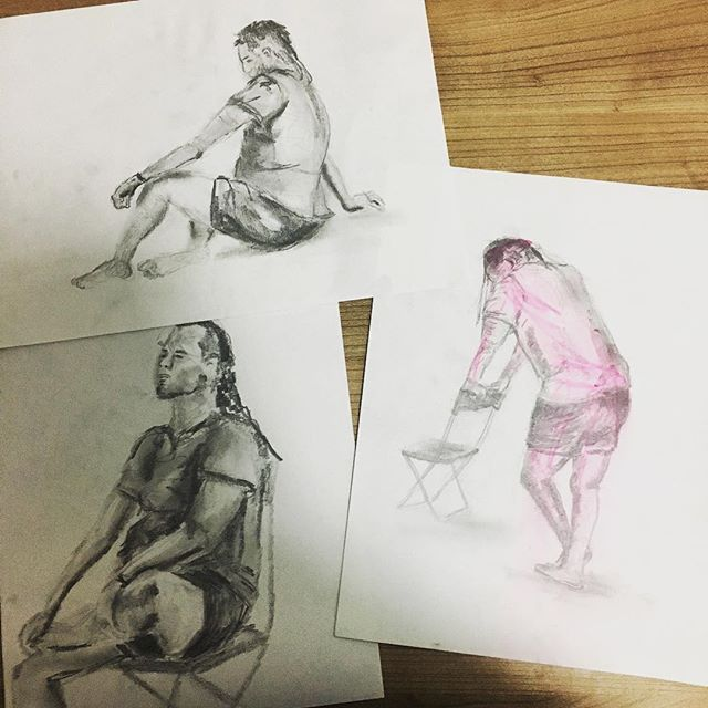 My top three drawings from the night #ISZAF #shenzhenart