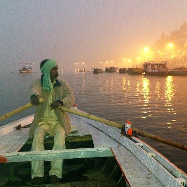 Best way to experience #Varanasi, an early morning boat ride