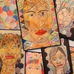Chuck Close Style Portraits