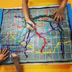 Annnnd our 2030 Shenzhen City Metro map is almost complete! #msjensartroom #grade3art #collaborative