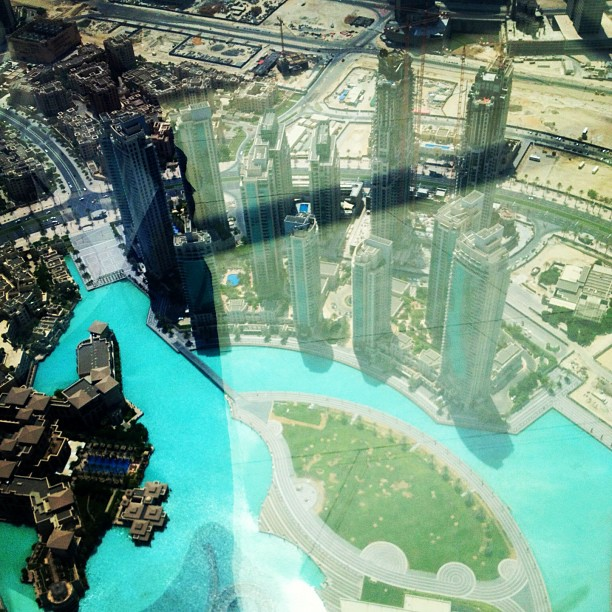 View from the Burj Khalifa, tallest building, tower, man-made structure in the world