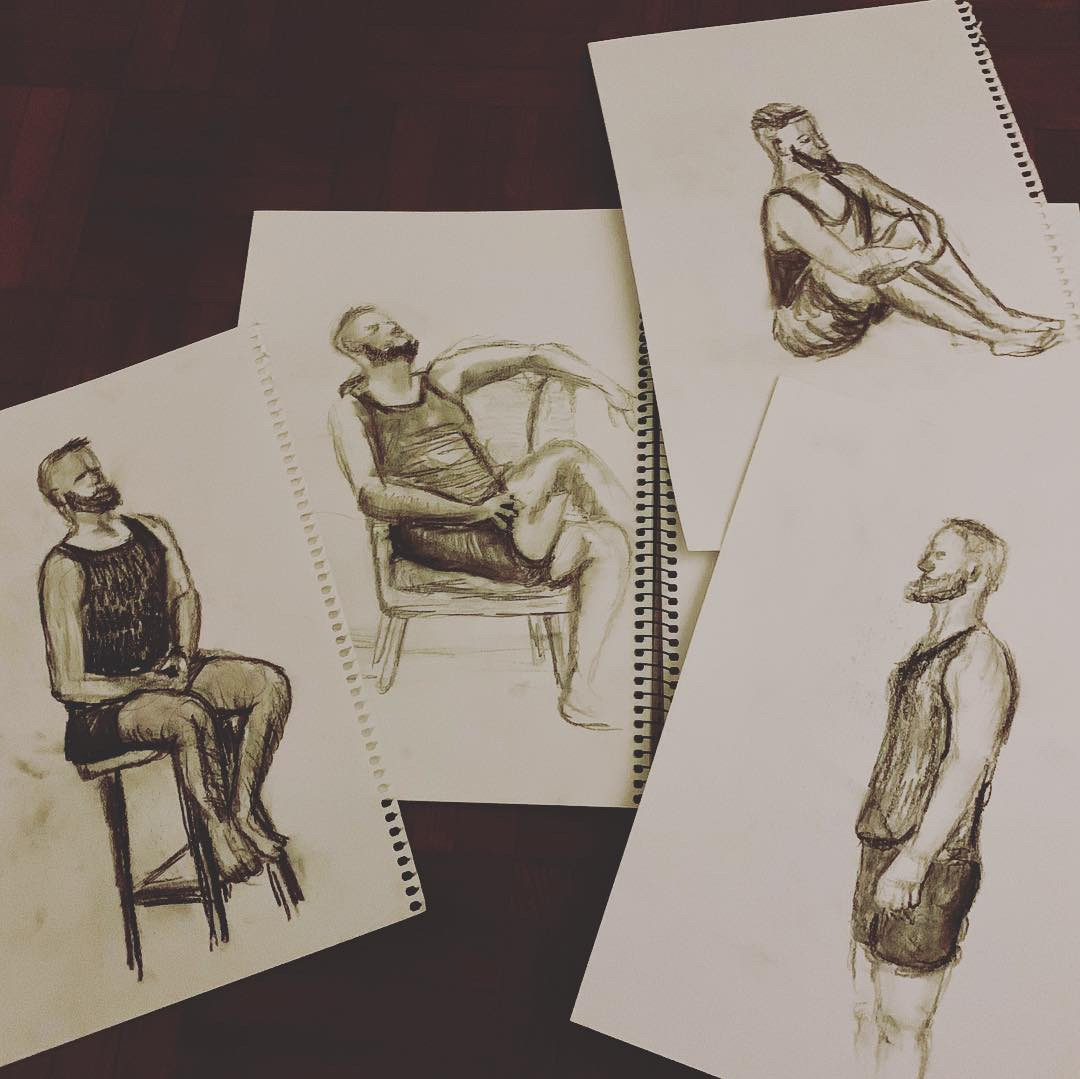 My top four drawings from the night