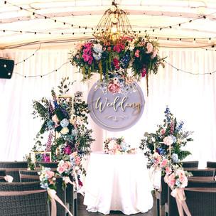 活動佈置|粉嫩春色暖調的郵輪婚禮