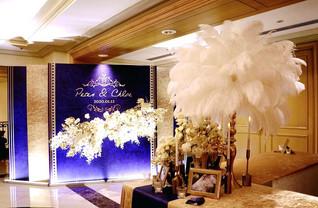 婚禮佈置|藍金華麗風