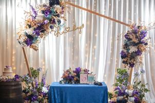 婚禮佈置|浪漫俏麗藍金風格