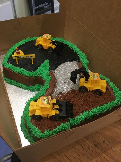 Shaped Construction Cake