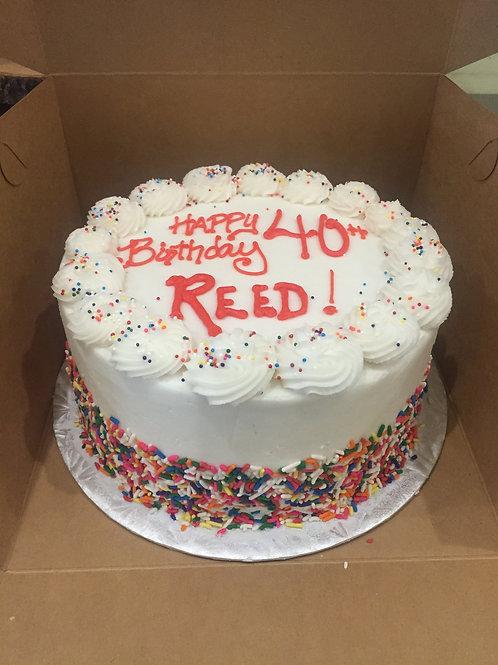 """8"""" Round Birthday Cake"""