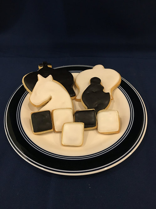 Chess Piece Cookies