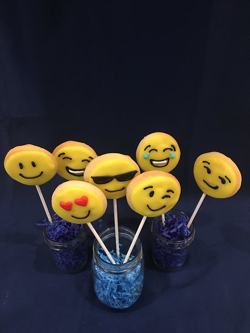 Emoji Cookie Pops
