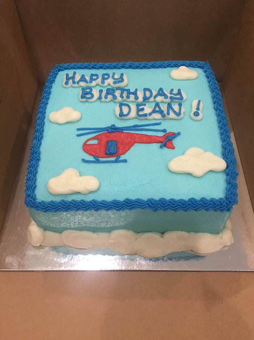 Helicopter B-Day Cake
