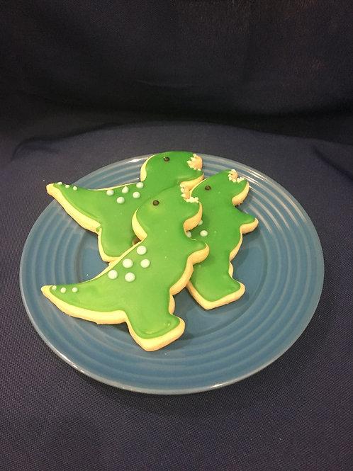 Dino/Number Cookies