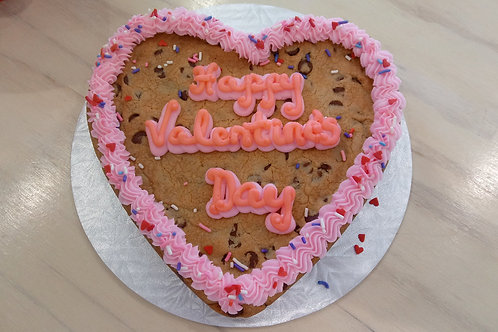 Valentine's Day Cookie Cake