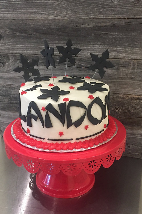 Ninja Themed Cake