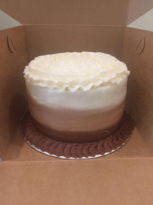 Mocha Ombre Cake