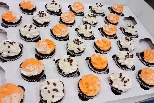Orange Swirl Cupcakes