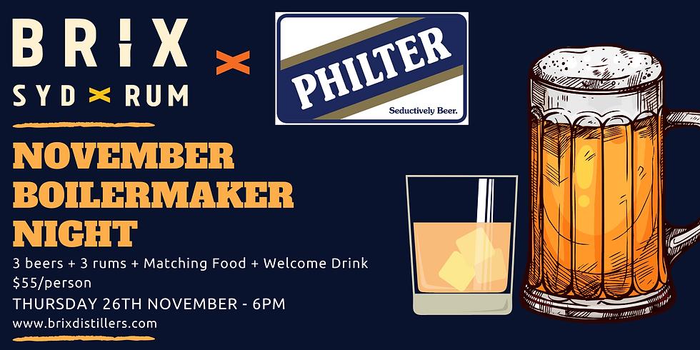 Brix X Philter Boilermaker Night
