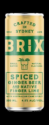 Spiced Ginger Beer & Native Finger Lime Craft RTD - 330ml 4PK