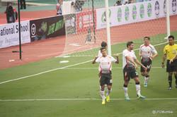 Coutinho celebrating his goal.