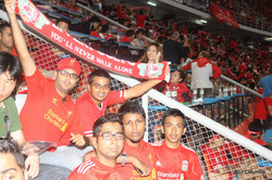 At the stadium during the game!