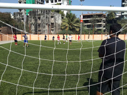 View from behind the net