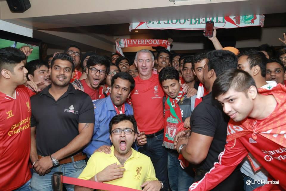 Ian Rush with the Mumbai Reds