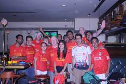 Post match celebrations